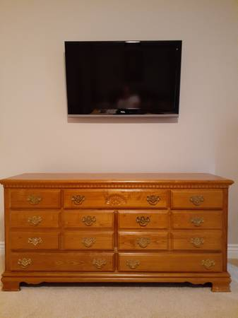 Photo Oak dresser mirror solid oak - $250