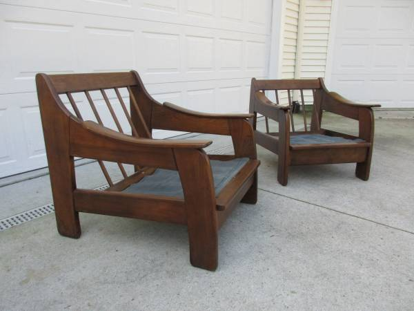 Photo PAIR - Mid Century Adrian Pearsall Style Lounge Chairs - $1,000 (Grand Rapids)