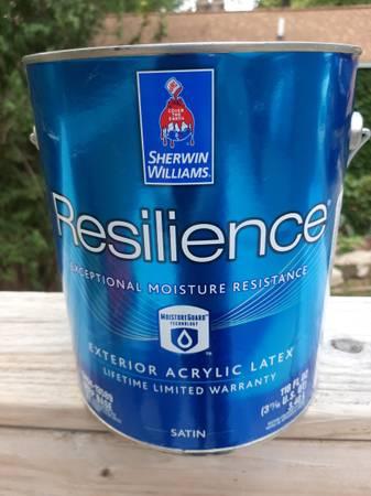 Photo Paint  1 gallon Sherwin Williams exterior Resilance satin finish - $20 (Wyoming)