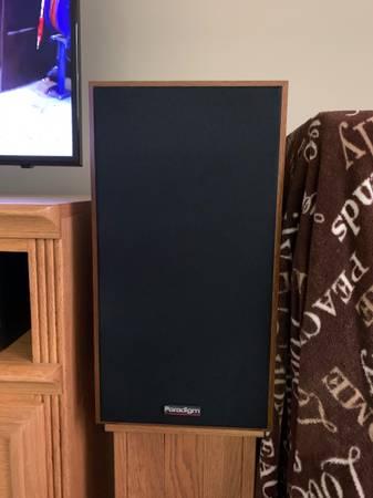 Photo Paradigm speakers - $150 (Kent City)