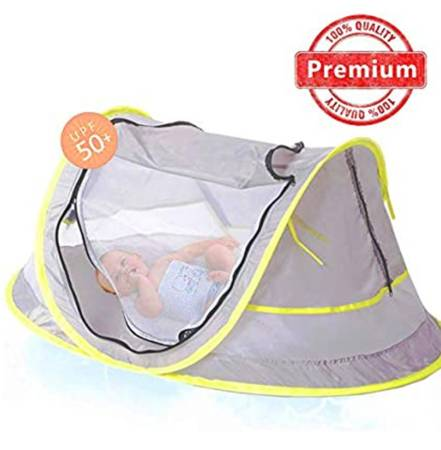 Photo Portable Baby Beach Pop-Up Tent with Sun Shade  Mosquito Net - $20 (Wyoming)