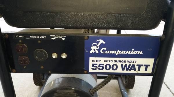Photo Powerful 6875w  5500w 10hp Tecumseh 120v240v Generator - $300 (Grand Rapids NE)