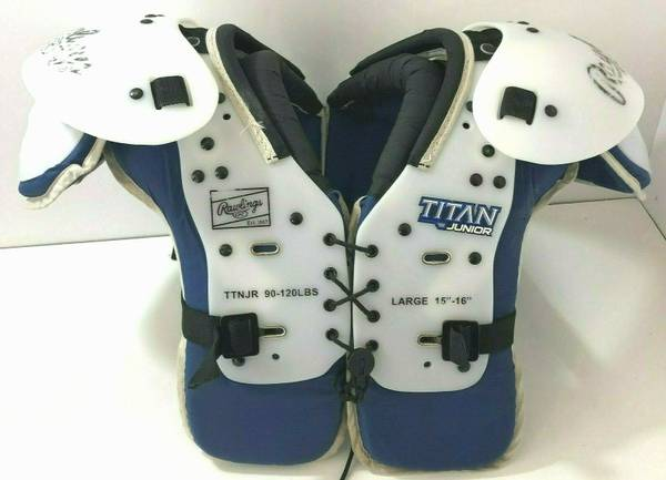 Photo Rawlings Titan Junior Football Shoulder Pads TTNJR 90-120lbs Large - $35 (Rockford)