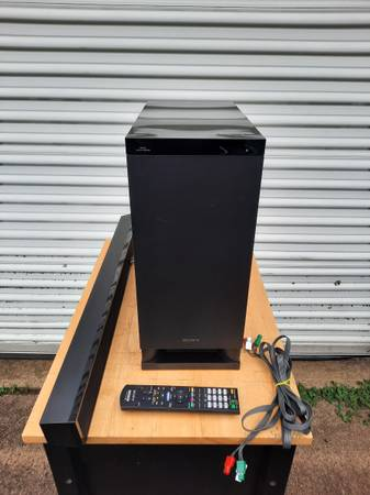 Photo Sony SA-WCT150 Subwoofer w SoundBar SS-CT150 Home Theater System - $35 (Zeeland)