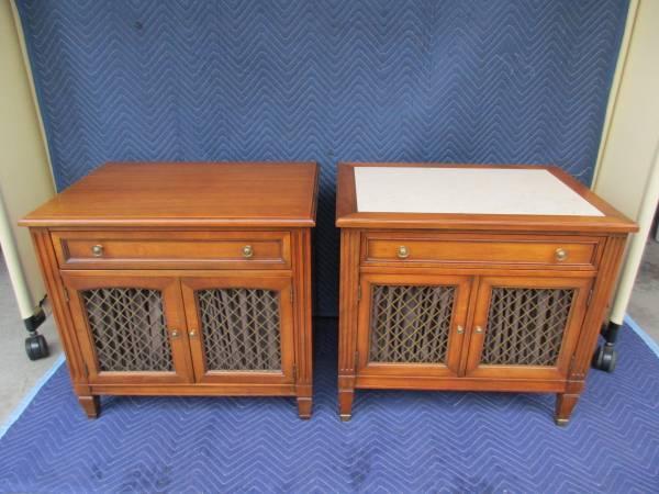Photo Vintage Pair of Grand Rapids made Kindel Furniture Nightstands - $385 (Grand Rapids)