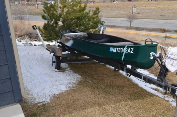 Photo 16 foot Gheenoe with trailer - $2,000 (Helena)
