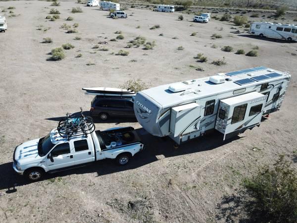 Photo 2011 Heartland Cyclone 3612 HD Toyhauler  2004 Ford F550 - $45,000 (Kalispell)