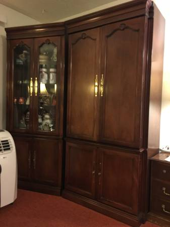 Photo Display Armoire with Glass Doors - $375 (Great Falls)