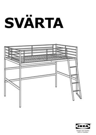 Photo Ikea Svarta lofted twin bed with desk attachment - $110 (Malmstrom AFB)