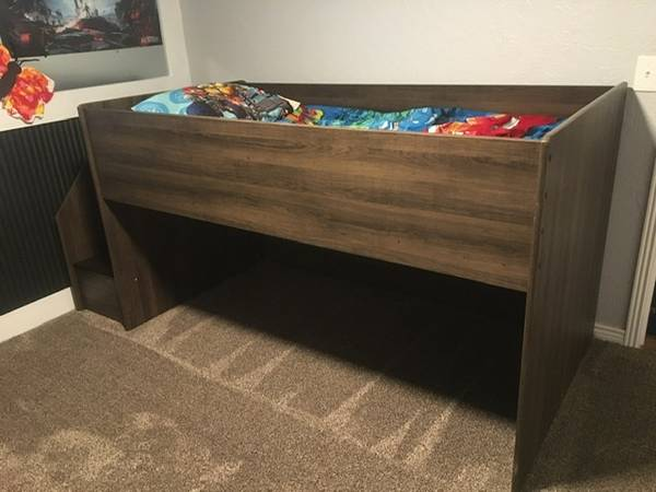 Photo Storage twin loft bed MUST SELL - $300