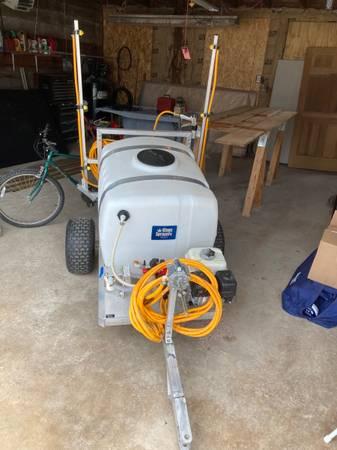 Photo 100 gallon pull type sprayer - $1,800 (Maribel)