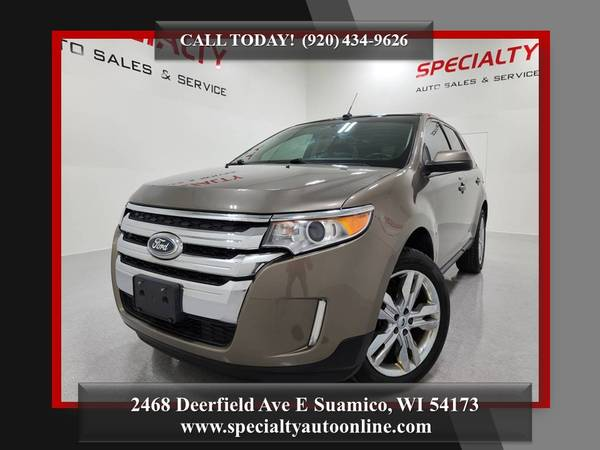 Photo 2013 Ford Edge SEL AWD New Tires Backup Cam Power Lift Gate - $12,995 (SPECIALTY AUTO-1 MILE NORTH OF GREEN BAY)
