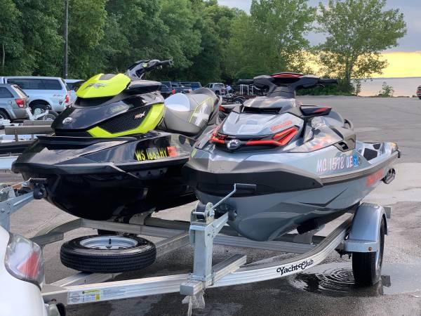 Photo 2018 SeaDoo RXT-X 300, 2012 RXT-X 260 aS, aluminum Yacht Club trailer - $32,500 (Near The University of WisconsinGreen Bay)