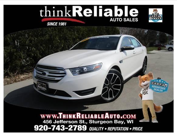 Photo 2019 FORD TAURUS LIMITED AWD NAV MOON SONY WHITE PLATINUM LOADED - $22935 (STURGEON BAY)