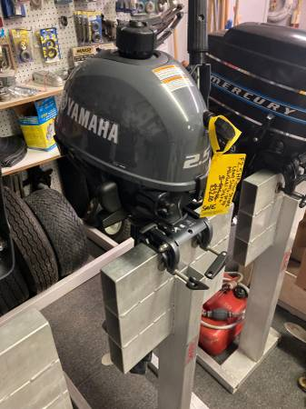 Photo 2.5hp Long Shaft Kicker 4stroke YAMAHA OUTBOARDS NEW 4-SALE at quotCOSTquot - $832 (Bonduel, WI. 54107)