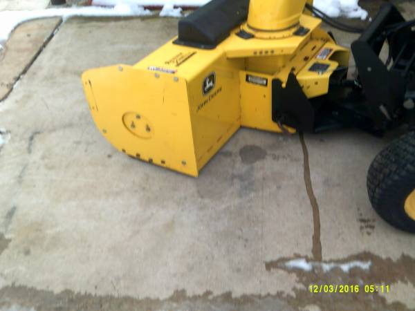 Photo 47 john deere snow blowerwith quick hitch - $2,400