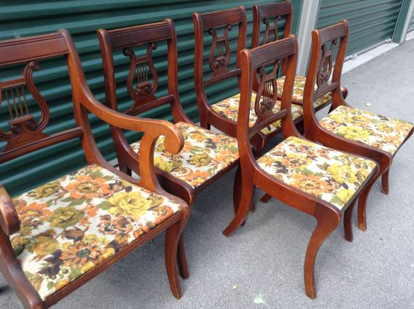 Photo 6 Authentic Antique Harp Back Chairs - $199 (West Green Bay)
