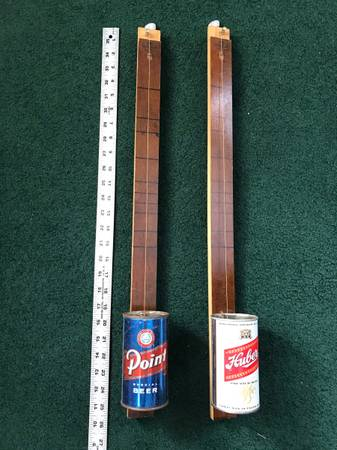 Photo Beer Can Banjos - Canjos or Diddly Bows - $35 (Sturgeon Bay)