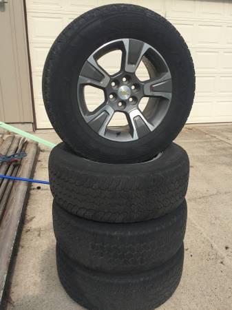 Photo Chevy Colorado Alloy Rims and Tyres - $750 (Gillett)