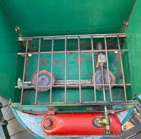 Photo Coleman vintage 2 burner cing stove - $29 (green bay)