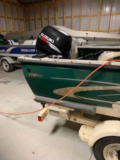 Photo Crestliner Fish Hawk 1650 Tiller - $9,000 (Sturgeon Bay)
