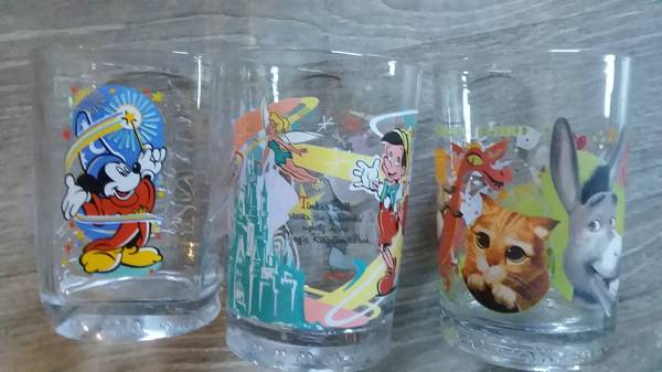 Photo Disney Collector Glasses from McDonalds - Set of 3 - $5 (Denmark)