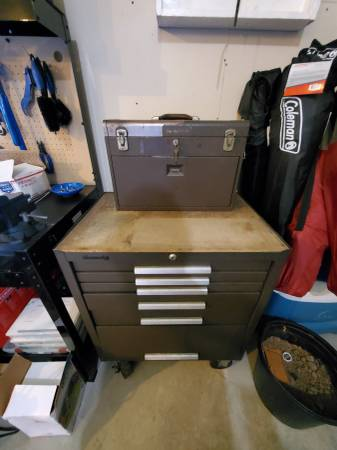Photo Kennedy Tool Box Chest with Tools - $350 (Howard)
