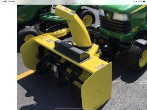 Photo Wanted John Deere 47 or 54 Quick hitch Snowblower (Green bay)