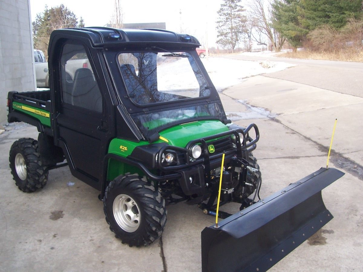 Photo 2010 John Deere Gator 825i 4x4  Snow Plow-$1500