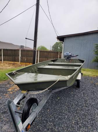 Photo 14 wide deck Jon boat - $5,000 (Greensboro)