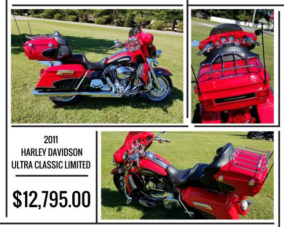 Photo 2011 HARLEY DAVIDSON ULTRA CLASSIC LIMITED FOR SALE - $12,395 (7507 DALLAS CHERRYVILLE HWY. CHERRYVILLE, NC)