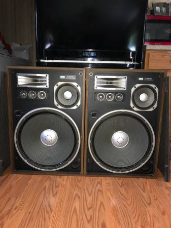 Photo HUGE Sansui SP-X8700 Stereo Speakers W17 Inch Woofers - $225 (Ramseur, NC.)