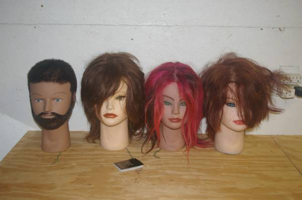 Photo Mannequin Heads CliC USA Realistic Looking with Human Hair - $100 (Lexington NC)