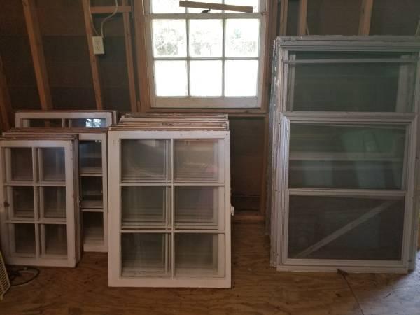 Photo Old school wooden windows storm window sashes - $10 (greensboro)