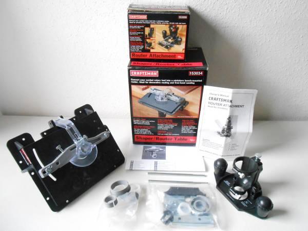 Photo Older Sears Craftsman Mini Rotary Tool Router Accessories - $100 (Greensboro)