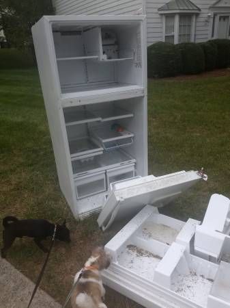 Photo PICKED UP - GE Profile Refrigerator, good for parts (Greensboro NC)