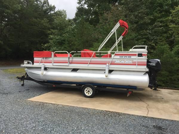 Photo Pontoon boat for sale - $9,500 (Lake Tillery)