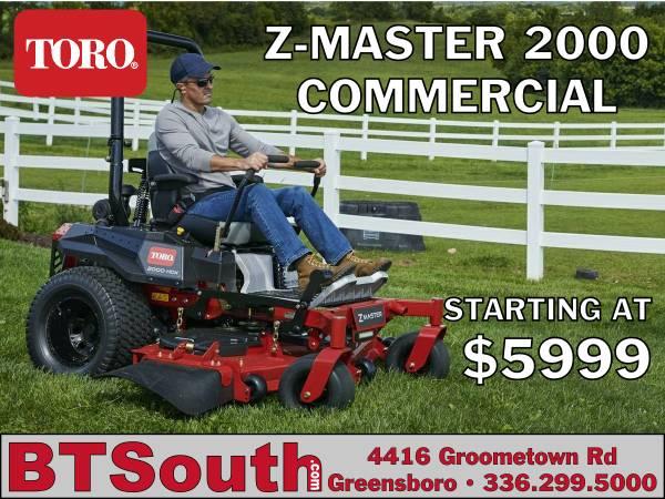 Photo TORO Z-Master 2000 Zero Turn Commercial Mower - Starting at $5999 (Greensboro)