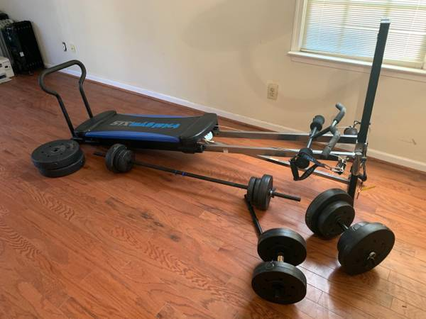 Photo Total Gym XLS and Weights - $250 (Greensboro)