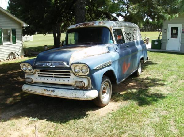 Photo 1959 CHEV PANEL TRUCK - $7500 (CAMPOBELLO SC)