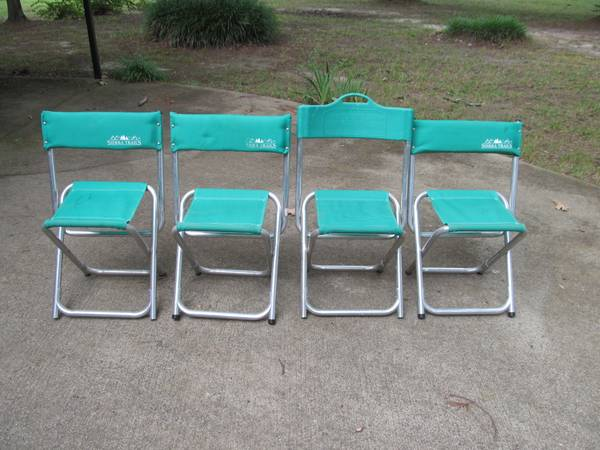 Photo Aluminum Folding Chairs - $40 (Anderson)