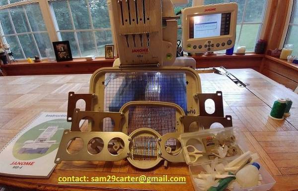 Photo Awesome Embroidery JANOME Machine Accessories Included - $1,070