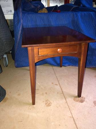 Photo Ethan Allen American Impression Solid Cherry One Drawer Side Table - $280 (Simpsonville)