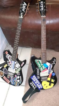 Photo First Act 222 AL4042 Adam Levine guitars (pair) - $100 (Greenville)