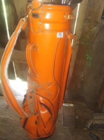 Photo Orange Miller Vintage Leather Golf Bag - $35 (Easley)