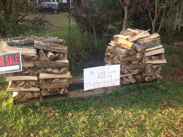 Photo Split oak firewood - $65 (Belton, SC)