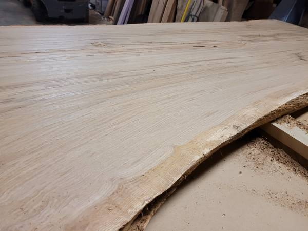 Photo Thick Dry (now surfaced) White Oak - tiger oak - Dining Table Slab - $1,000 (Travelers Rest)