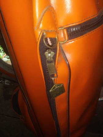 Photo Vintage Orange Leather Miller Golf Case - $35 (Easley)