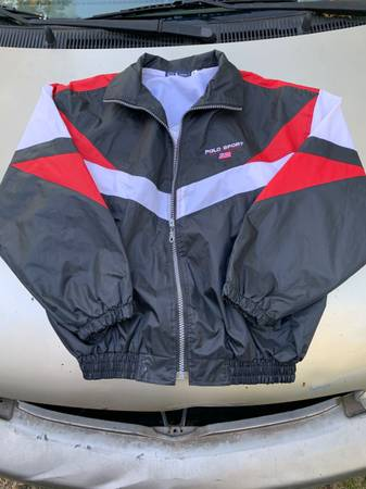 Photo Vintage Ralph Lauren polo sport track jacket womens szM - $80 (Greer)