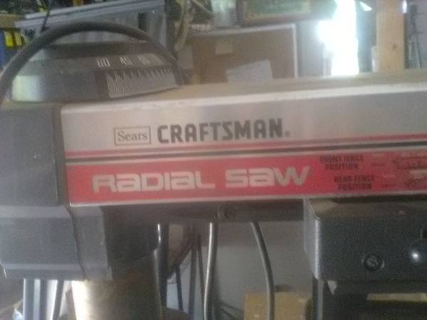 Photo craftsman radial arm saw on rolling stand - $210 (Spartanburg Co)